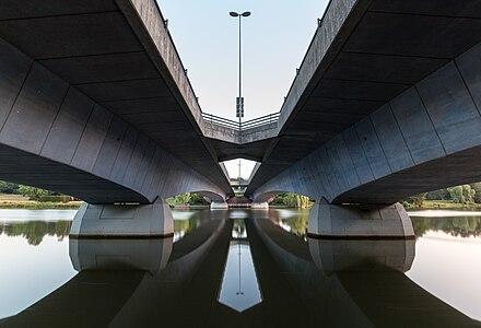 Torminbrücke (at sunrise), Münster, North Rhine-Westphalia, Germany