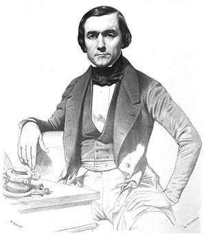 Jacques-Jean Barre - Portrait of Jacques-Jean Barre, from Album du Salon de 1840 by Jean Baptiste Marius Augustin Challamel, Paris, 1840