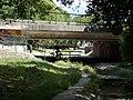 M11 highway bridge over the Bükkös creek. North. Cyclists, Pilis-Danube Bend bike path. - Szentendre, Pest county, Hungary.JPG