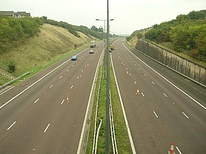 M65 motorway - Image: M65 between Jn 7 and Jn 8 geograph.org.uk 65210