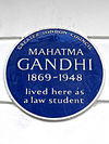 MAHATMA GANDHI 1869-1948 lived here as a law student.jpg