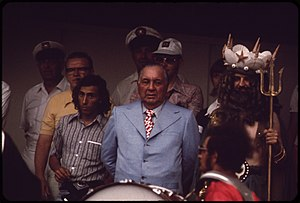 Richard J. Daley - Daley at the opening day parade for the Lakefront Festival, 1973.