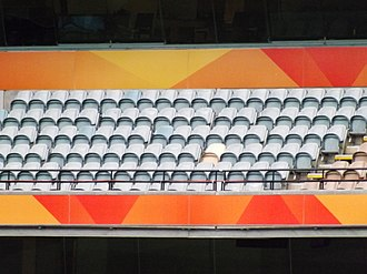 Boundary (cricket) - At the MCG a yellow seat marks the biggest six hit at the ground.