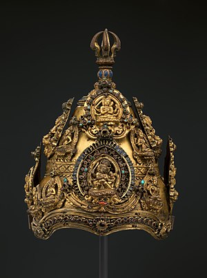 Crown (headgear) - Vajracarya's Ritual Crown, Ancient Nepal