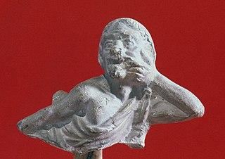 Buste masculin grimaçant 25553