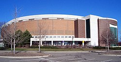 The Jack Breslin Student Events Center is home to the men and women's basketball teams.