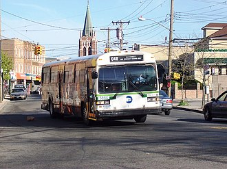 Green Bus Lines - A former Green Line Q40 MCI Classic in South Jamaica, Queens.
