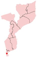 モザンビーク内のマトラの位置の位置図