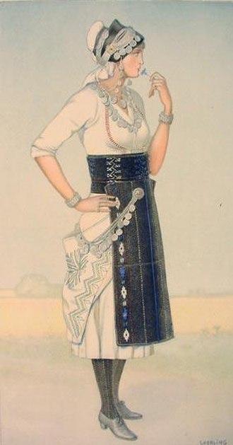 Roumlouki - Image: Macedonia Greek Costume Roumlouki 3