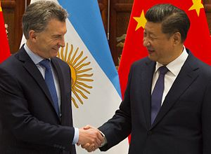 Argentina–China relations - Argentine President Mauricio Macri and Chinese President Xi Jinping.