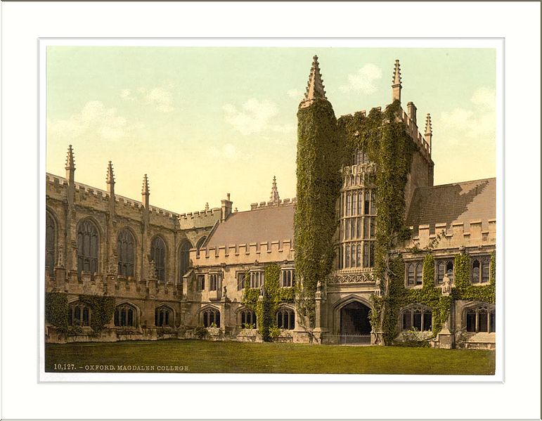 File:Magdalen College Founders Tower and Cloisters Oxford England.jpg