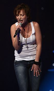 Magdi Rúzsa performing at the ESC 2007 in Helsinki.jpg