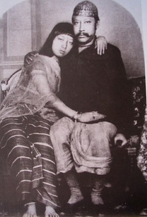 Tripura - King Bir Chandra Manikya with Queen Manamohini in 1880