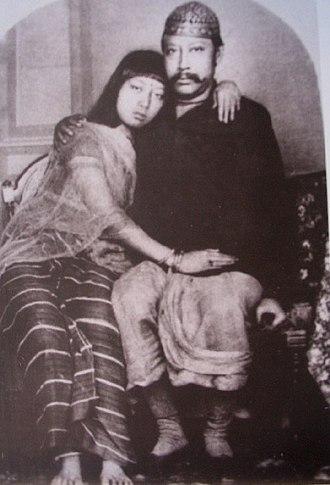Tripura (princely state) - Maharaja Bir Chandra Manikya with Queen Manamohini