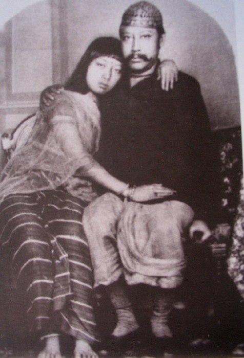 Maharaja Birchandra with Maharani Manamohini
