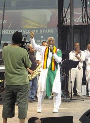 Mahmoud Ahmed - Mahmoud Ahmed performing in Washington, DC at RFK Stadium for the 2008 Ethiopian Soccer Tournament