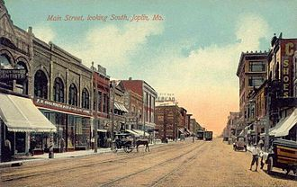 Joplin, Missouri - Main Street, below 5th Street, circa 1910