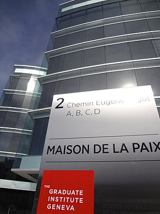 "Graduate Institute of International and Development Studies - Maison de la paix (""House of Peace"")."