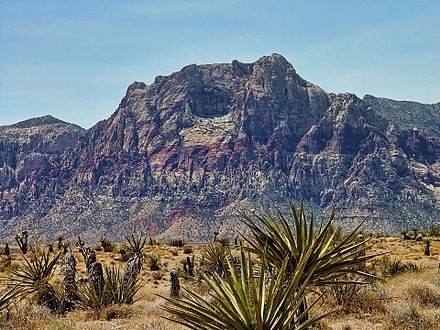 Desert scene at the Red Rock Canyon National Conservation Area in the Las Vegas area Majestic Mountain (3841029921).jpg
