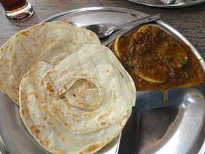 Parotta - Kerala parota with egg curry