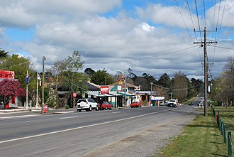 Malmsbury, Victoria - The Calder Highway at Malmsbury