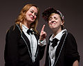 Mamrie Hart and Hannah Hart at No Filter in December 2013.jpg