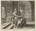 Manasse geboeid in de gevangenis bidt tot God 2 Kronieken 3311-13. NL-HlmNHA 1477 53008202.JPG