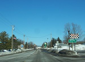 Manawa, Wisconsin - Looking north at Manawa