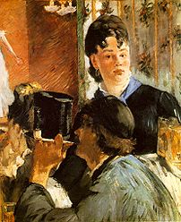 Édouard Manet's painting The Waitress showing ...