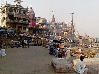 Shmashana - Manikarnika Ghat, a Shmashana ghat at Varanasi, India