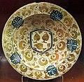 Manises, piatto con lustro metallico, 1450 ca. 01.JPG