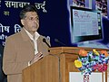 """Manish Tewari addressing at the release of the Reference Annual """"INDIA 2013, the """"e-version"""" of Rozgar Samachar, Urdu"""" and new logo of """"Employment News"""", in New Delhi on February 05, 2013.jpg"""