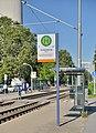 Mannheim - Fernmeldeturm - Straßenbahnhaltestelle.jpg