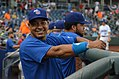 Manny cheesing it up in the dugout (14415747219).jpg