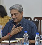 Manohar Parrikar welcoming Ash Carter (cropped).jpg