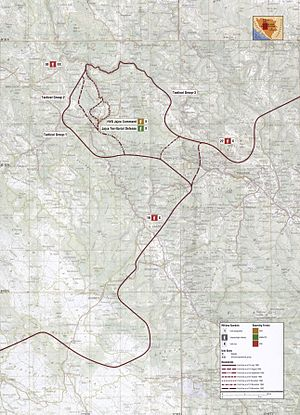 Operation Vrbas '92 - Map of Operation Vrbas '92