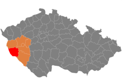 Map CZ - district Domazlice.png