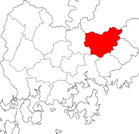 Location of Miryang