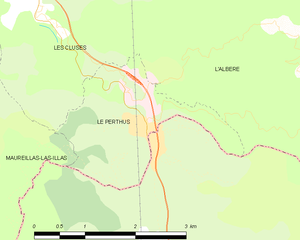 Le Perthus - Image: Map commune FR insee code 66137