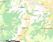 Carte montrant Combloux et les communes voisines.
