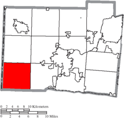 Location of Morgan Township in Butler County