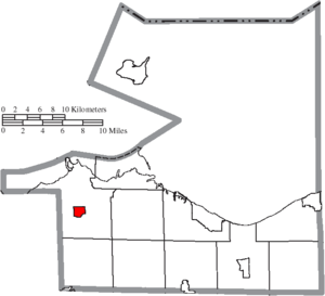 Castalia, Ohio - Image: Map of Erie County Ohio Highlighting Castalia Village
