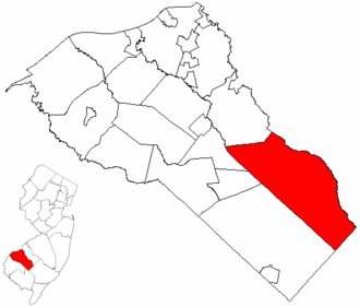 Monroe Township, Gloucester County, New Jersey - Image: Map of Gloucester County highlighting Monroe Township