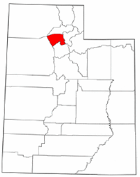 Map of Utah highlighting Davis County.png