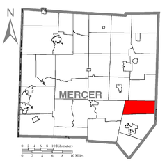 Map of Wolf Creek Township, Mercer County, Pennsylvania Highlighted.png