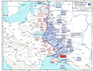 Battle of the Dnieper - Map of the battle of the Dnieper and linked operations