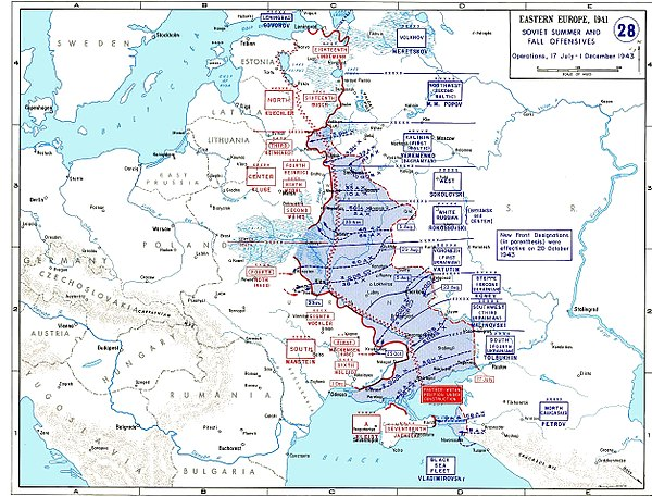 Map of the Eastern Front in 1943, showing the Panther-Wotan line in red Map of dnieper battle grand.jpg