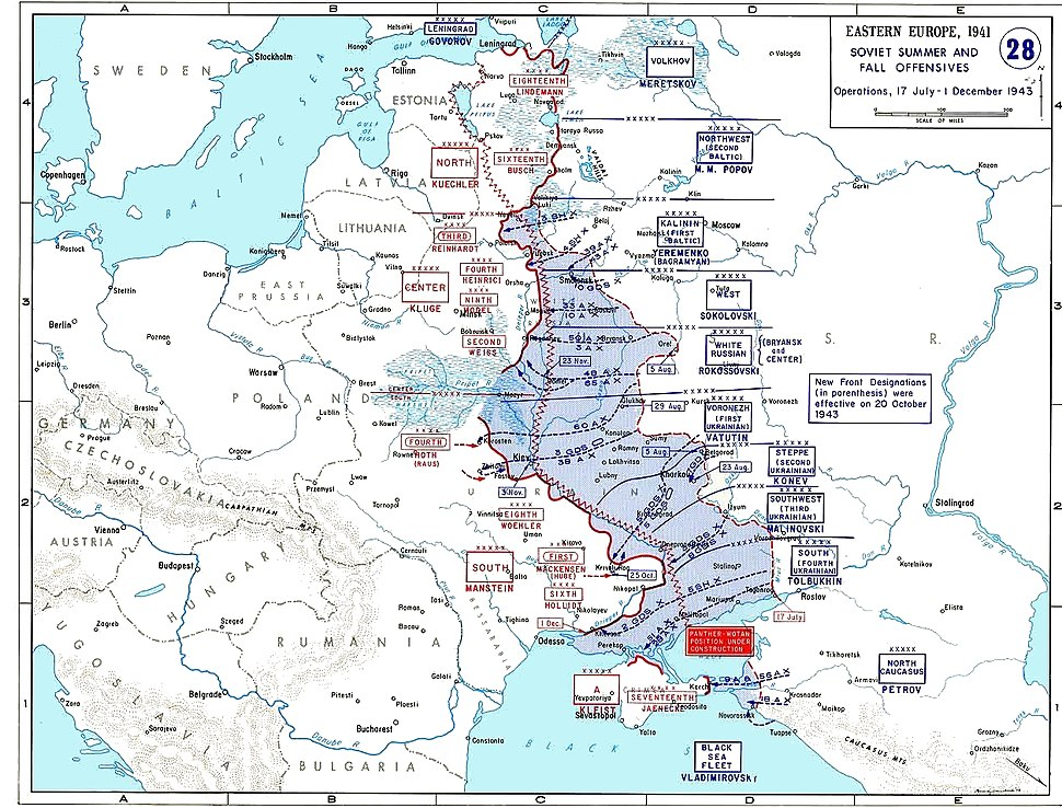 Map of dnieper battle grand