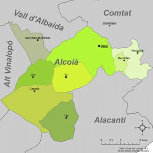 Alcoià - Municipalities of Alcoià