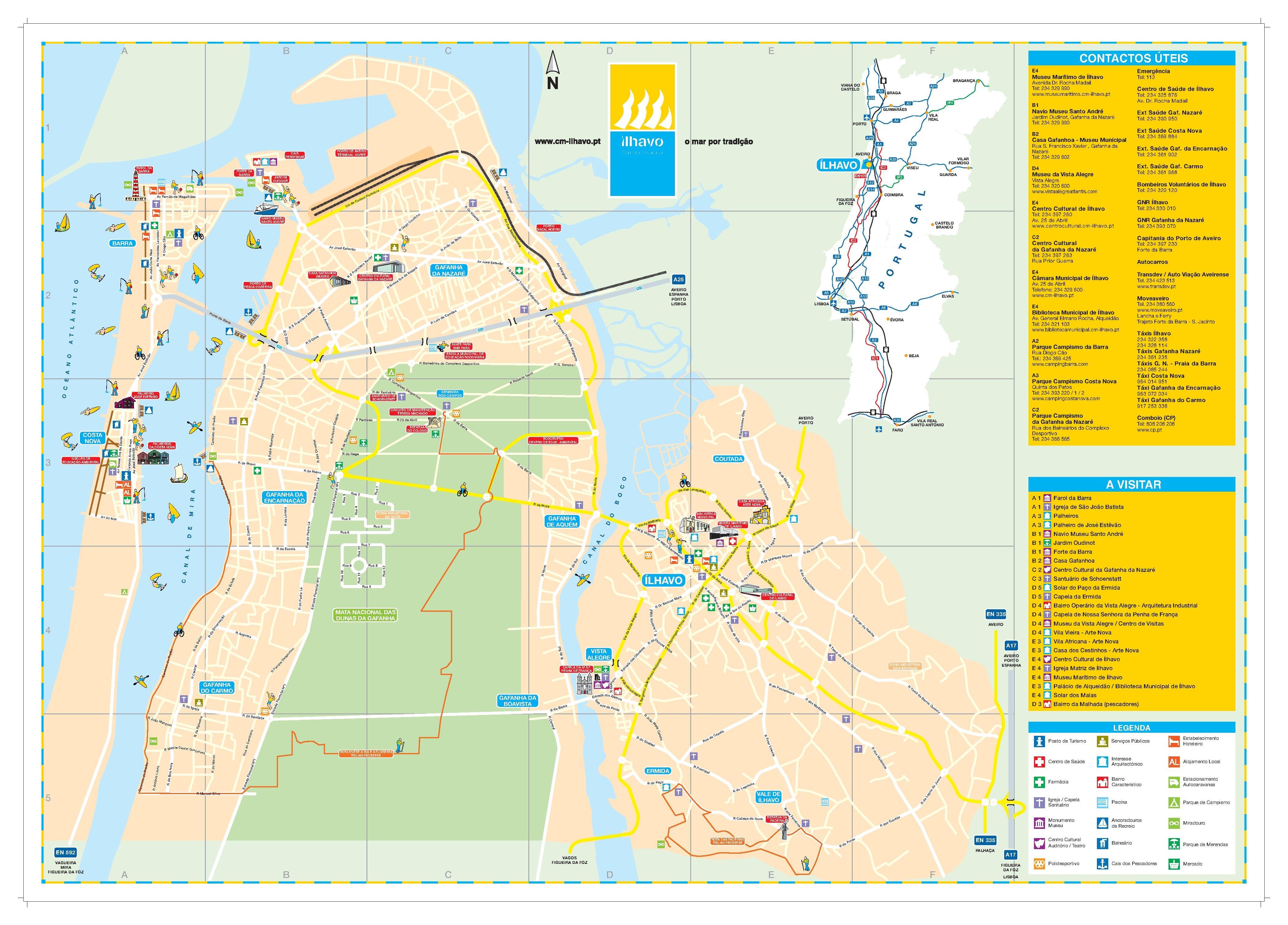 File Mapa Turistico Do Municipio De Ilhavo Pdf Wikimedia Commons